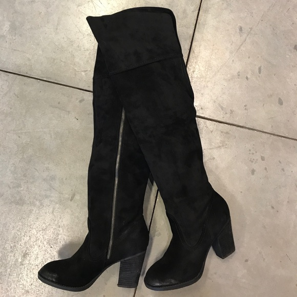 bb42d4f14e9 Not Rated Andra over the knee boot in Black